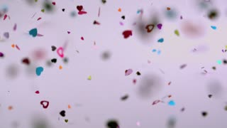 Heart Confetti Blowing Around 1