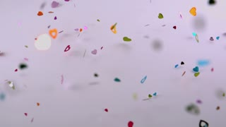 Heart Confetti Blowing Around 2