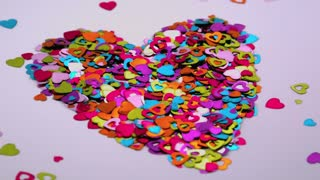 Heart Confetti Blows Away 1