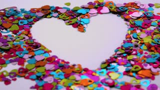 Heart Confetti Blows Away 2
