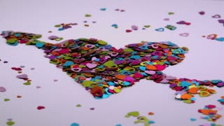 Heart Confetti Blows Away 3