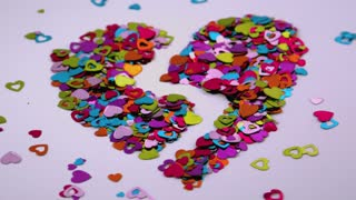 Heart Confetti Blows Away 4