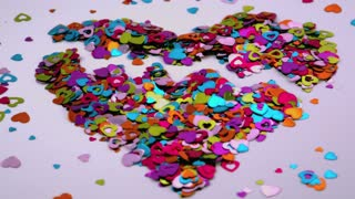 Heart Confetti Blows Away 6