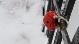 heart-shaped lock, symbol of love