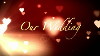 Heart Wedding Red Background