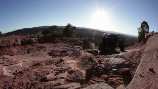 Heavy Duty Jeep Crawling Desert Rocks