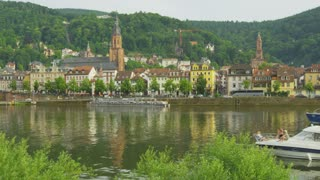 Heidelberg Riverfront and Boats
