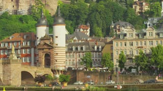 Heidelberg Riverfront and Old Bridge Archway
