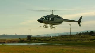 Helicopter Lands