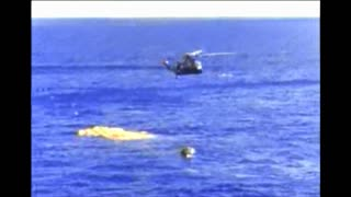 Helicopter Retrieving Gemini 11