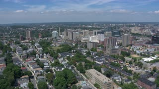 Helicopter Shot Over Boston, Massachusetts
