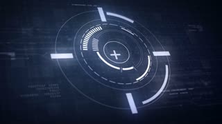 Hi-Tech Futuristic HUD Display Circle Elements Looping Animation 4K