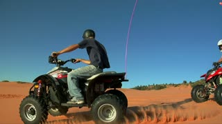 High Shutter Speed Atv Riders On Standards