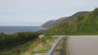 Highway Along Nova Scotia Coast
