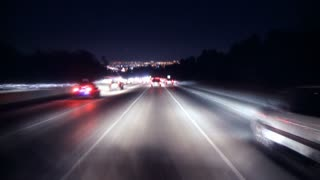 Highway LA Night Timelapse
