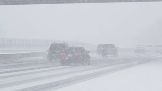 Highway Traffic in Blizzard 2