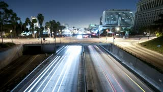 Highway Traffic Night Light Trails