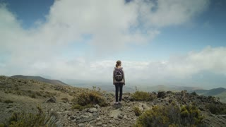 Hiker Admires Scenery