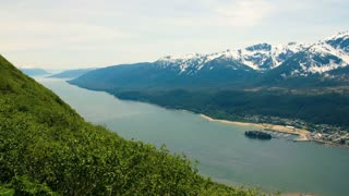 Hillside View of Alaskan Mountains