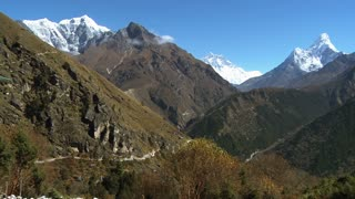 Himalayan Valleys and Peaks of Ama Dablam and Lhotse