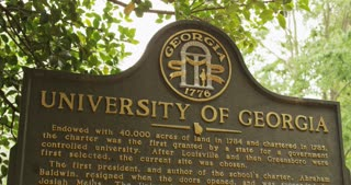 Historic Marker at University of Georgia