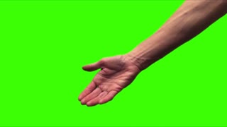 Holding hands green screen V2