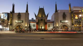 Hollywood Boulevard, Hollywood Walk of Fame, Grauman's Chinese Theatre, Los Angeles, California, United States of America, T/lapse