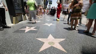 Hollywood Boulevard, Hollywood Walk of Fame, Los Angeles, California, United States of America, T/lapse