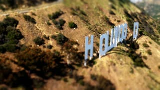 Hollywood Sign Tilt Shift