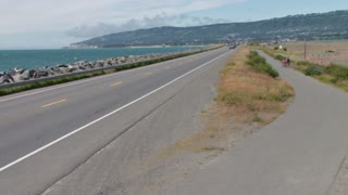 Homer Spit Road in Alaska on Sunny Day