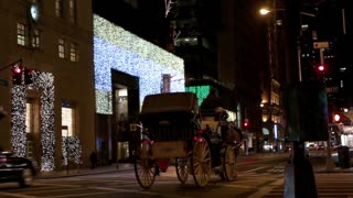 Horse Carriage on Busy New York City Street