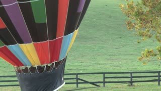 Hot Air Balloon And Horses