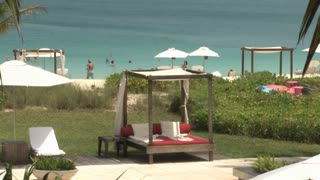 Hotel Resort Cabanas and Chairs at Oceanfront Beach 5