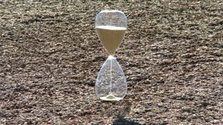Hour Glass Timelapse Rocky Background