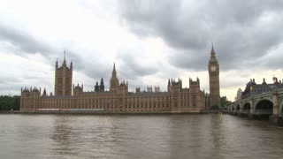 House Of Parliament Across River Thames