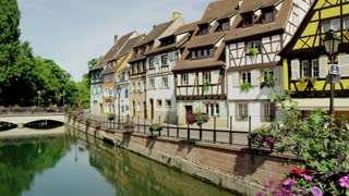 Houses Along Canal in Colmar, France