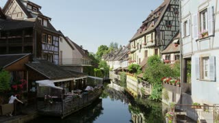 Houses Along Colmar, France Canal
