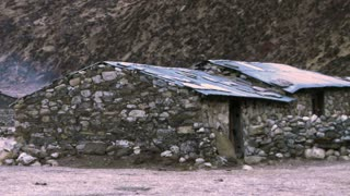 Houses Made of Tin and Stone in Nepal