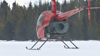Hovering Helicopter In Alaska