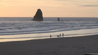 Huge Rock Formation in the Water at Cannon Beach