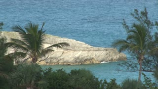 Huge Rock Jetting Out Into Water Off Bermuda Coast