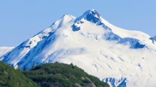 Huge Snow Covered Mountain in Alaska