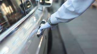 Human Hand Opening Car Door