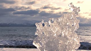 Ice Formation On Beach