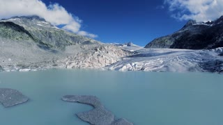 ice glacier lake landscape. melting ice. global warming. climate change