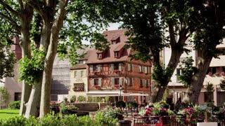 Idyllic Park in Colmar Alsace France