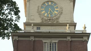 Independence Hall Clock Tower Tilt