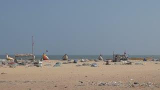 India Beach Slums