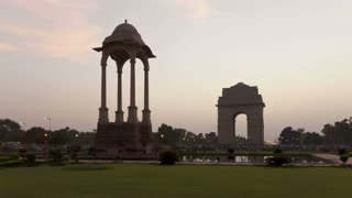 India, Delhi, New Delhi, India Gate, the 42 metre high India Gate is at the eastern end of Rajpath. Republic Day is held here every 26th January attracting millions