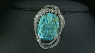 Indian Neclace With Blue Gem